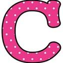 c - Pink polka dot