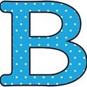 Big B - Blue polka dot