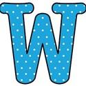 Big W - Blue polka dot