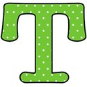 Big T - Green polka dot