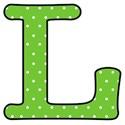 Big L - Green polka dot