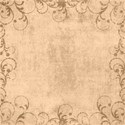 Floral edged background  paper beige