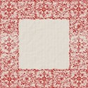 Red white borderlayering  pattern