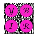 Printable Zebra Birthday Square Banner 2