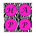 Printable Zebra Birthday Square Banner 1
