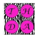 Printable Zebra Birthday Square Banner 3