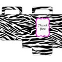 Printable Zebra Party Favor Bag