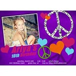 Peace & Love Birthday Invitation