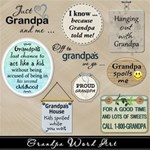 Grandpa Word Art