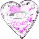 pale pink heart button