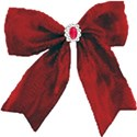 red bow with ruby