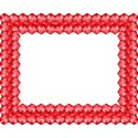 red oblong frame