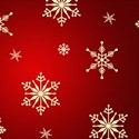 snowflakes red background