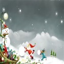 Christmas sleigh background