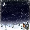 snowy night background