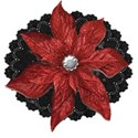 Flower Black Lace Red Flower
