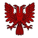 Double headed eagle red