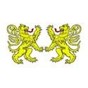 lions rampant combattant yellow