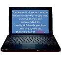 lap top family and firnds saying