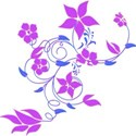 purple and blue floral swirl