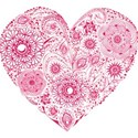 floral filagree heart