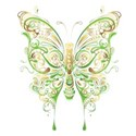 butterfly from swirls