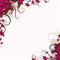 burgandy floral corners background