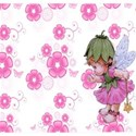 morning glory fairy and flowers background