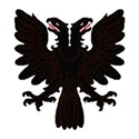 Double headed eagle black