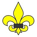 Fleur-de-lis yellow outlined
