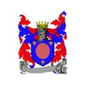 Blazon red & blue oval with banner  frame