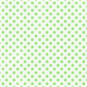 6 x 6 green polka dot