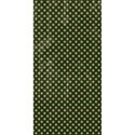 half sheet brown with green polka dots