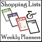 Shopping Lists & Weekly Planners - FREE