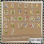 Pretty Flower Alphabet Set