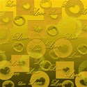 love paper gold yellow