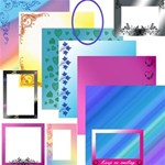 80 beautiful backgrounds and frames (40 each)