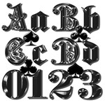 Fancy Black Alphabet