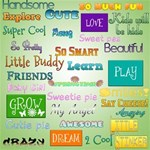 Kids wordart + Alpha *free for a limited time*