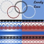 Lovely lace *Patriotic colors*
