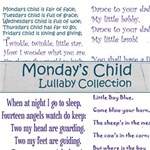 Mondays Child  Lullaby Wordart