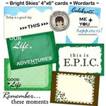 ~ Bright Skies ~ Journaling cards & Wordarts