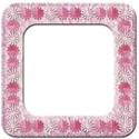 lace and paper daisy frame