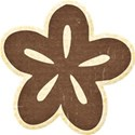 Brown Chipboard Flower