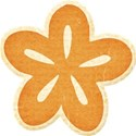 Orange Chipboard flower