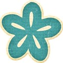 Teal Chipboard Flower