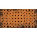 half sheet orange polka dot