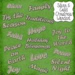 Silver & Gold Christmas Wordart