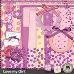 { Love my Girl } with 20 layouts ready-made