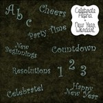 Celebrate Alpha + New Years Wordart